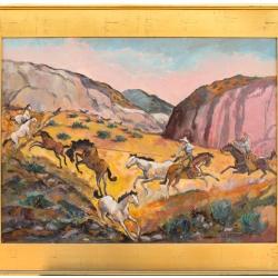 Wild Horse Round Up - PRINT
