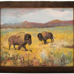 Two Buffalo - PRINT